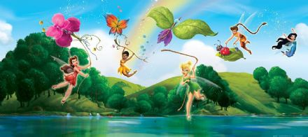 "Disney bedroom wallpaper ""Fairy Tinker Bell"""